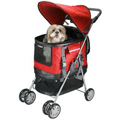 3 in 1 Dog Stroller. in Red