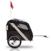 Desert Palm Bicycle Dog Trailer - with signal flag and refelectors