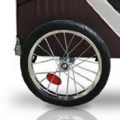 Desert Palm Bicycle Dog Trailer - strong sturdy pneumatic tyred wheels with reflectors