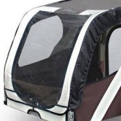 Desert Palm Bicycle Dog Trailer - strong mesh entry points and vinyl covering