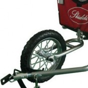 SKIIDDII Dog Bicycle Trailer and Jogger Stroller - front wheel
