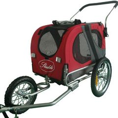 SKIIDDII 2 in 1 Dog and Pet Bicycle Trailer and Jogger Stroller
