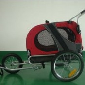 SKIIDDII Dog Bicycle Trailer and Jogger Stroller - front wheel attachment