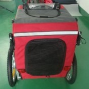SKIIDDII Dog Bicycle Trailer and Jogger Stroller - rear entrance