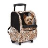 Cheetah print Casual Canine Animal Print Small Pet BackPack on Wheels 2