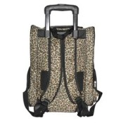 Leopard Print Pet Roller Carrier and Backpack for Dogs and Cats 2