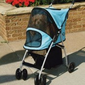 puppy strollers protect your puppy from harmful UV rays in hot sunny summer weather