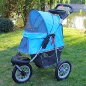 a pet jogger is perfect for travelling on rough terrain