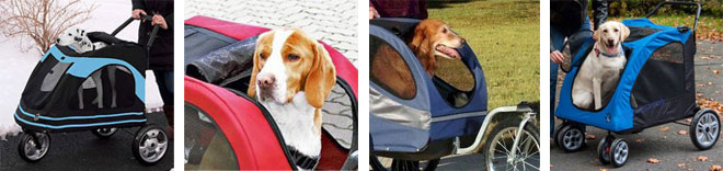 Dog Strollers and Bicycle Dog Trailers recommended for large dogs