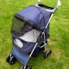 4 Wheel Easy Fold Pet Stroller in Blue