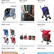 buying dog strollers online on bidding auction sites