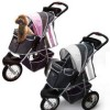 Innopet Three Wheel Dog Stroller Jogger with airfilled tyres - in a choice of two colour combinations, pink and grey