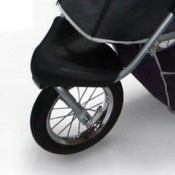 Innopet Three Wheel Dog Stroller Jogger with airfilled tyres - 'pet step' to help your dog get into the stroller