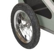 Kranich Mini Dog Trailer and Stroller Jogger - large 12 inch wheels with pneumatic tyres