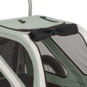 Kranich Mini Dog Trailer and Stroller Jogger - roof top and front roll up protective cover