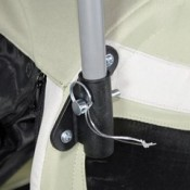 Kranich Mini Dog Trailer and Stroller Jogger - stroller jogger handle is easy to attach