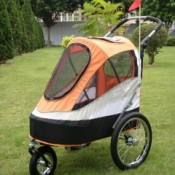 Innopet Sporty Orange and Black Dog Stroller, Jogger and Bicycle Trailer