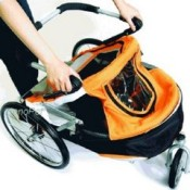 Innopet Sporty Orange and Black Dog Stroller, Jogger and Bicycle Trailer - easy to fold down