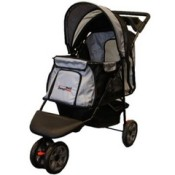 Innopet all terrain dog stroller in black and silver