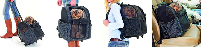 multifunctional dog trolley for easy pet transportation